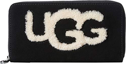 UGG Women's Honey Zip Around Wallet Sheepskin Black for sale  Delivered anywhere in USA