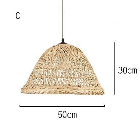 TL-LAMPS Lámparas De Mimbre Mimbre Artesanal De Bambú A La ...