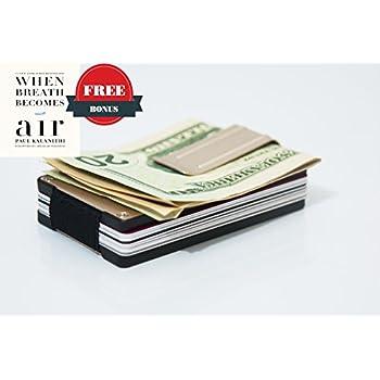 Amazon itall rfid blocking money clip minimalist silver rivoll aluminum wallet business card holder aluminum money clip wallet with rfid blocking colourmoves Image collections