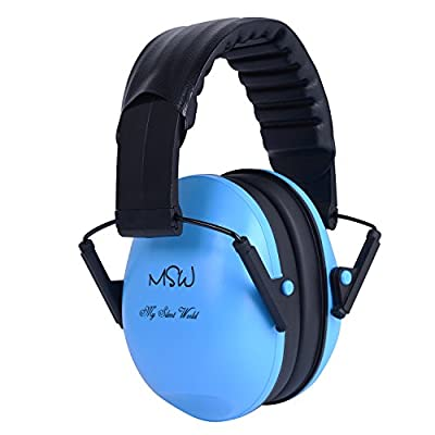 Adjustable Hearing Protection Earmuffs for Children and Adults, Foldable Noise Cancelling Ear Defenders for Working Yard Work Construction Drilling