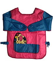 WaterProof Long Sleeve Water Resistant Painting Apron - Repeated Use 2 Front Pockets Easy To Use Clean Up And Protect Clothes From Stain When Coloring And Play With Water Color