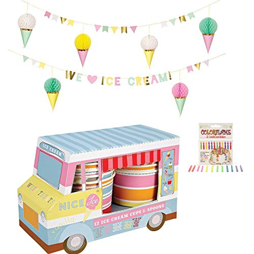 Ice Cream Truck Disposable Birthday Party Supplies Serves
