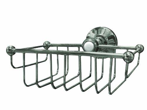 Westbrass Wall Mount Wire Shower Basket, Brushed Nickel, 1857-07 (Shower Rectangular Satin Basket)