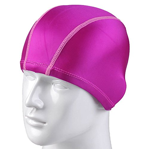 Natuworld SwimCaps Original Lycra Cloth Fabric Pure Color Swimming Cap Bathing Hats for Adult Men Women - Available in 8 colors