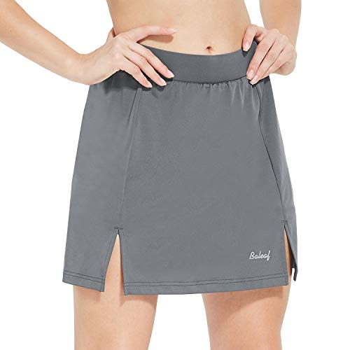Baleaf Women's Cycling Skort with 3D Padded Liner Bike Shorts Side Pockets UPF50+