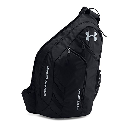 Under Armour Compel Sling 2.0 Backpack, Black/Black, One Size - Black 100% Laptop Sleeve