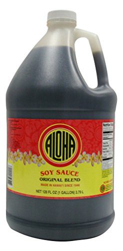Aloha Hawaii Original Blend Hawaiian Shoyu Soy Sauce 1 Gallon