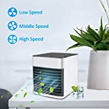 Onewell Arctic Air Personal Air Ice Cooler Small Portable AC Air Conditioner Fan,Mini Evaporative Personal Air Cooler Humidifier,Purifier with 3 Gears 7 Colors Backlight Quiet Sleep Mode for Bedroom
