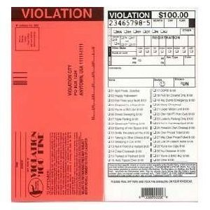 Set of 10-Fake Parking Tickets
