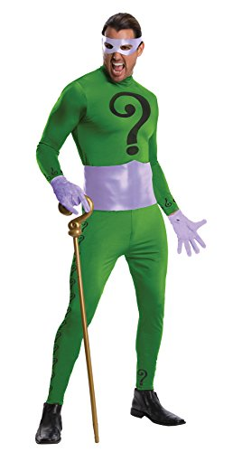 UHC Men's Grand Heritage The Riddler Outfit Adult Fancy Dress Halloween Costume, OS (42-44)
