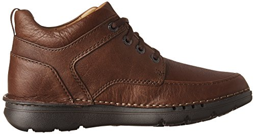 Clarks Mens Unnature Mid Brown Leather