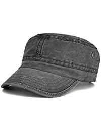 6db41b94528 Washed Cotton Military Caps Cadet Army Caps Unique Design Vintage Flat Top  Cap