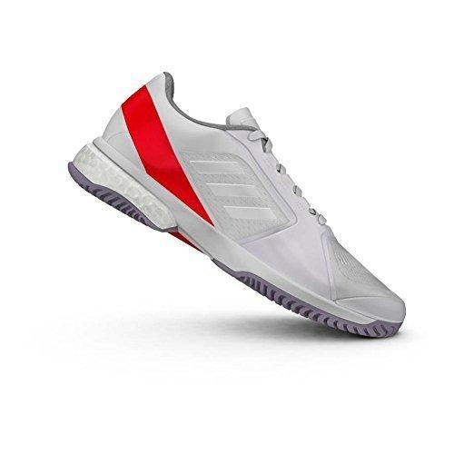 adidas Women's ASMC Barricade Boost White/Dark Callistos/Pearl Grey 6.5 B US