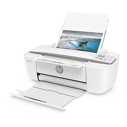 HP DeskJet 3755 Compact All-in-One Wireless Printer with Mobile Printing, Instant Ink ready - Stone Accent (J9V91A)