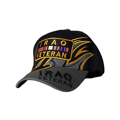 - Fox Outdoor 78-4541 Embroidered Ball Cap, Iraqi Veteran Shark Fine/Black/Grey