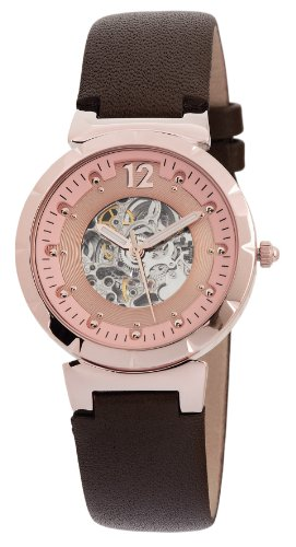 Leather Monte Watch Carlo (Carlo Monti CM800-305 Savona, Ladies watch, Analogue display, Automatic with Citizen Movement - Water resistant, Stylish leather strap, Elegant women's watch)
