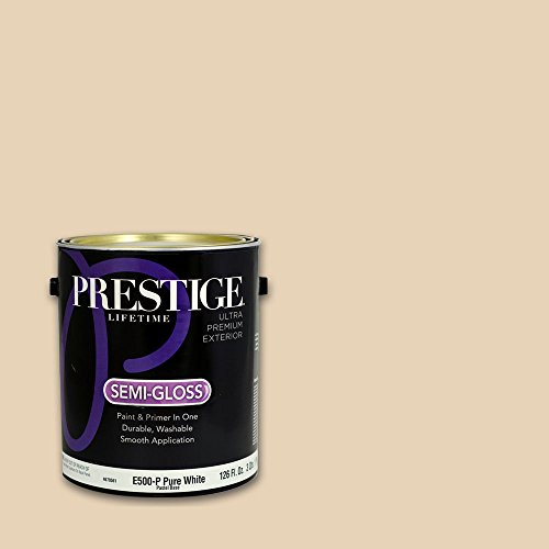 Prestige, Browns and Oranges 4 of 7, Exterior Paint and Primer In One, 1-Gallon, Semi-Gloss, Coastal Drive