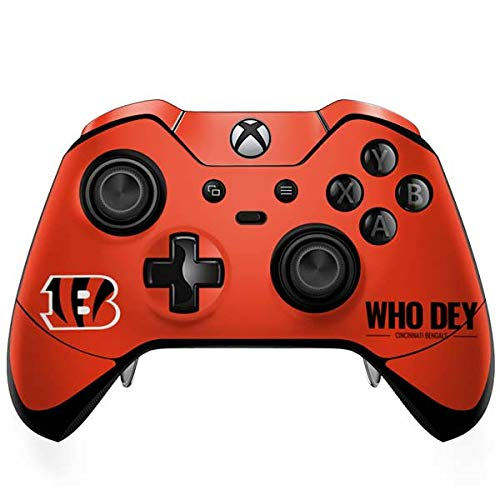 Skinit Cincinnati Bengals Team Motto Xbox One Elite Controller Skin - Officially Licensed NFL Gaming Decal - Ultra Thin, Lightweight Vinyl Decal -