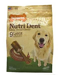 Nylabone Nutri Dent Filet Mignon Dog Chews, Large 9-Count Value Pack