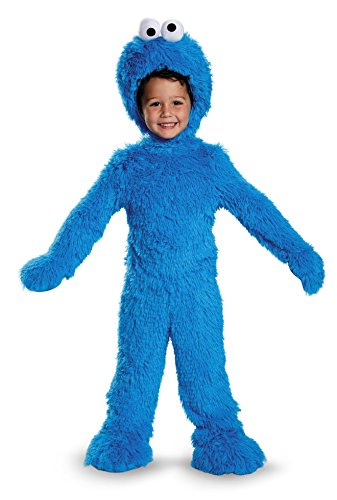 Disguise Cookie Monster Extra Deluxe Plush Costume, Small (Cookie Monster 2t Costume)