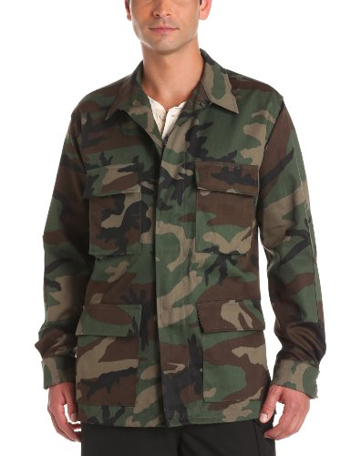 (Propper Men's BDU Coat, Woodland, Medium Regular)