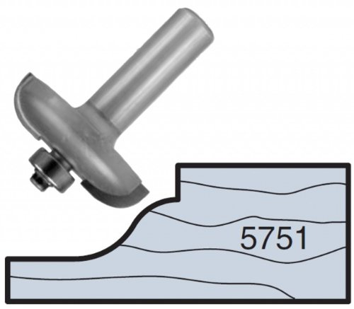 Whiteside Router Bits 5751 Miniature Raised Panel Bit with 1-3/4-Inch Large Diameter and 1/2-Inch Shank
