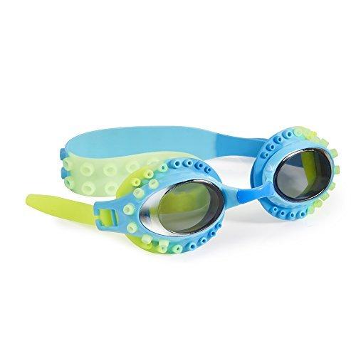 [Swimming Goggles For Boys - Charlie Calamari Kids Swim Goggles By Bling2o (Green Squid)] (Scuba Costume Child)