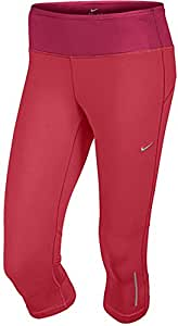 NIKE Womens Epic Run Tight Fit Running Yoga Capri Pants, Red, Medium, 547607 603