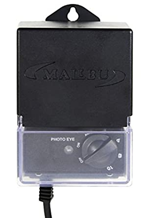Malibu 3100-1020-01 - 20 Watt Low Voltage Power Pack Transformer, w/ Photo  Eye Sensor and Timer, Black Matte