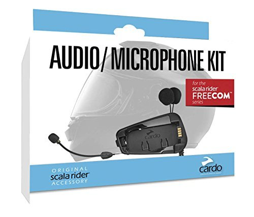 Cardo scala rider SRAK0035 Audio and Microphone Kit For Freecom Models, 1 Pack (Motorcycle Rider Scala)