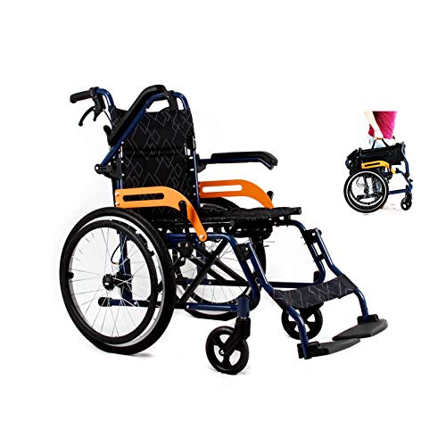 Transfer-Wheelchair-Lightweight-Folding-for-Adults-20-Wheels-Non-Pneumatic-Tires-with-Handbrake-Universal-Wheel-Portable-Wheelchair-Old-Man-Patient-Disabled-Pregnant-Woman-Black-USA-Warehouse