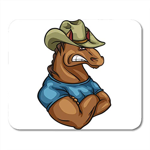 HZMJPAD Aggressive Horse Mascot Team Logo Design Isolated Anger Angry Animal 8.6 X 7.1 Mouse pad Mouse Mat
