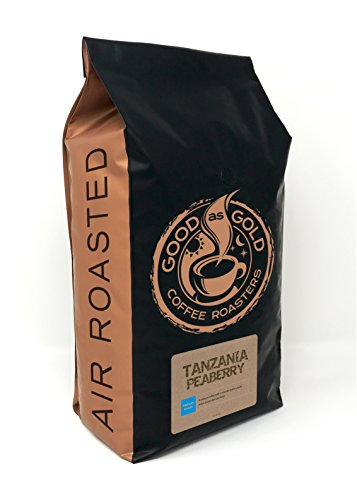 Tanzania Peaberry Coffee - Good As Gold Coffee Roasters - 5lb Whole Bean