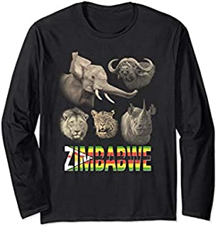 [Featured] Zimbabwe Big Five African Long Sleeve in ALL styles | Size S - 5XL