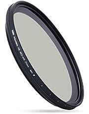 ESDDI Filtro ND Variabile 77mm Neutral Density(densità neutra) Regolabile da ND2 a ND400 per Fotografia Professionale di Paesaggio