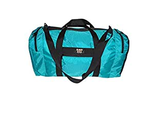 BAGS USA Bolsa de Deporte para Ropa húmeda y Seca con 1 Extremo de Malla de Compartimento, Bolsillo Delantero, Fabricado en Estados Unidos