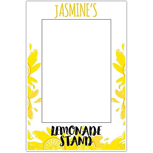 Juicy Lemon Lemonade Stand Selfie Frame Poster]()