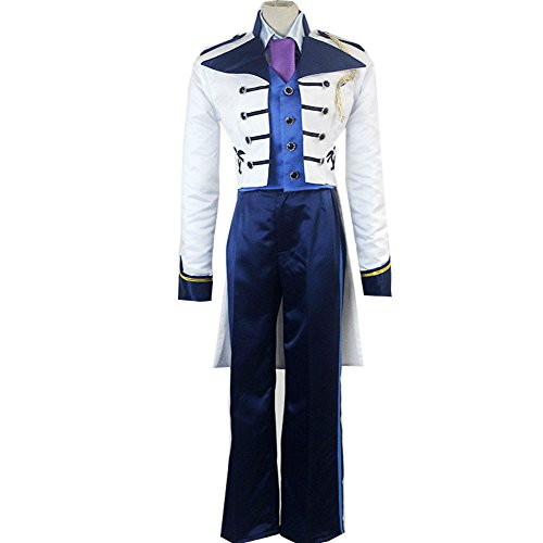 Anime Adult Prince Cosplay Costume White Uniform Charming