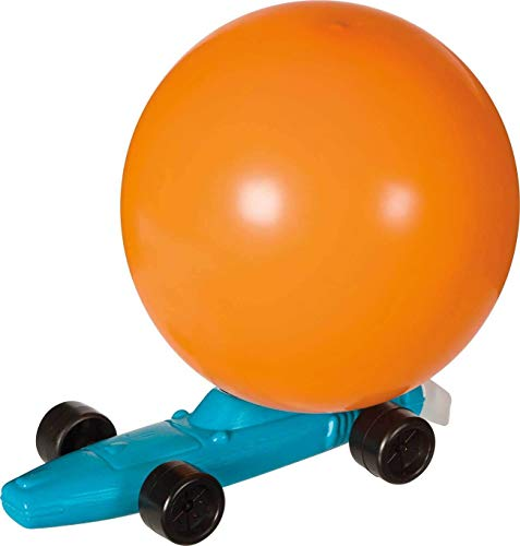 Big Game Toys~Balloon Powered RACE CAR Jet Racer Retro classic toy NEW Stocking Stuffer -