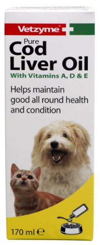 Cheap Vetzyme Dog Pure Cod Liver Oil Supplement 170ml