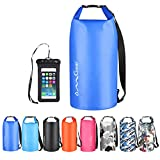 OMGear Waterproof Dry Bag Backpack Waterproof Phone Pouch 40L/30L/20L/10L/5L Floating Dry Sack for Kayaking Boating Sailing Canoeing Rafting Hiking Camping Outdoors Activities (Dark Blue, 40L)