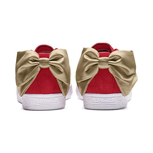41 Varsity Puma Suede Scarpe Rosso Wn´s bianco Bow d'oro Formato wFCqaFx7f
