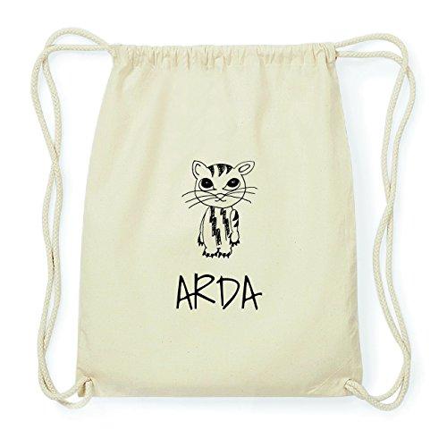 JOllipets ARDA Hipster Turnbeutel Tasche Rucksack aus Baumwolle Design: Katze