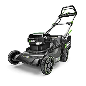 EGO Power+ LM2020SP 20-Inch 56-Volt Lithium-Ion Brushless Steel Deck Walk Behind Self-Propelled Lawn Mower Battery and…