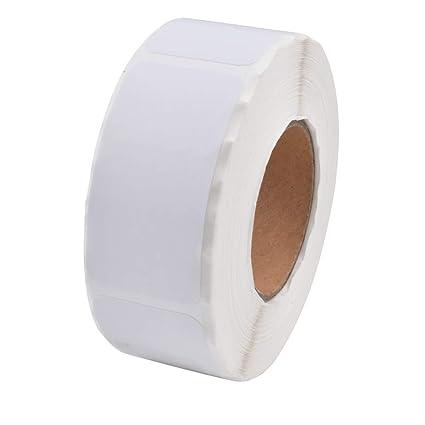 Etiquetas en blanco disueltas, 500 etiquetas adhesivas extraíbles ...
