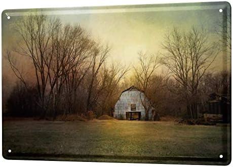 白い桜雑貨屋 ブリキ 看板 レトロ 看板 販売 冒険家の農家 [20x30cm] おしゃれ 雑貨 通販 アメリカン ブリキ墙壁、壁挂装饰室内