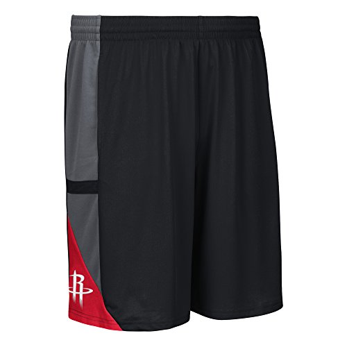 adidas NBA Houston Rockets Men's Tip-Off Mesh Shorts, Small, Black