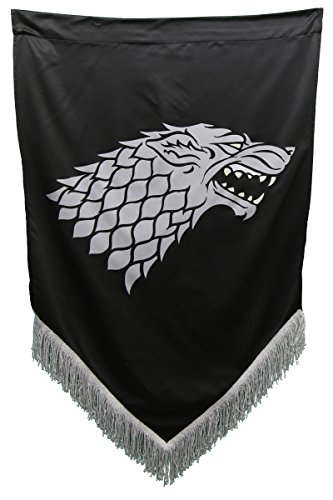 "Calhoun Sportswear Game of Thrones Wall Banner with Fringe (27"" by 45"") (House Stark)"