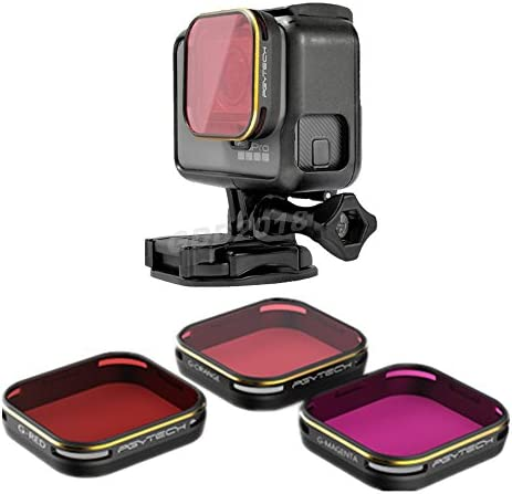 4Pcs Dive Filters for GoPro Hero 5 Hero 6 /& Hero 7 Black Red//Light Red//Magenta//Yellow Snorkel Filters Compatible with GoPro Official Waterproof Housing
