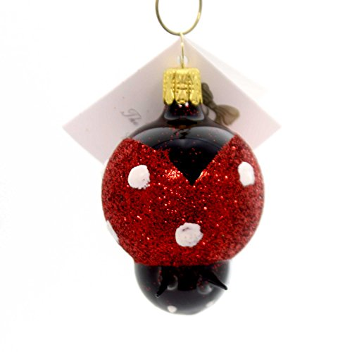 Ornaments Bell Ladybug (Golden Bell Collection SMALL LADYBUG Glass Ornament Czech Republic Bug An741)